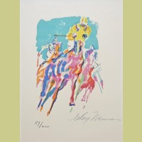 LeRoy Neiman Home Stretch