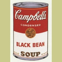 Andy Warhol (after) Black Bean