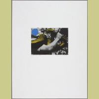 John Baldessari Man with Snake (Blue and Yellow)