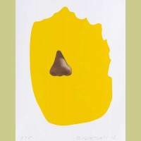 John Baldessari Nose/ Silhouette:Yellow