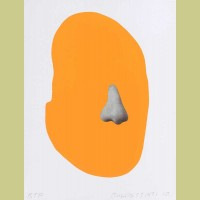 John Baldessari Nose/ Silhouette: Orange
