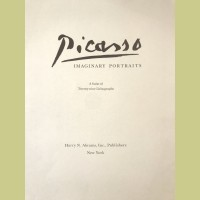 Pablo Picasso (after) Portraits Imaginaires Portfolio Cover and Justification Page