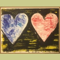 Jim Dine Two Hearts at Sunset
