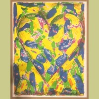 Jim Dine The Blue Heart