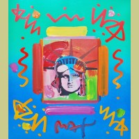 Peter Max Liberty Head II Collage
