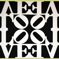 Robert Indiana Black and White LOVE