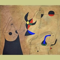 Joan Miro (after) Femmes sur la plage (Women on the Beach), Plate IV