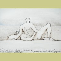 Henry Moore Reclining Figures: Man and Woman I