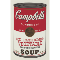 Andy Warhol Campbell's Soup II: Old Fashioned Vegetable