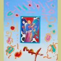Peter Max Angel with Heart Collage, Version II