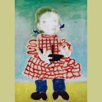 Pablo Picasso (after) Portrait of a Girl (Maya in a Pinafore)