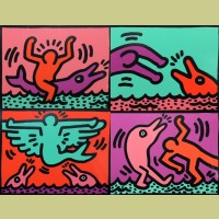 Keith Haring Pop Shop V (Set of Four)