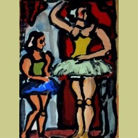 Georges Rouault Circus of the Flying Stars: The Ballerinas