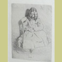 Annie Seated Original James McNeill Whistler Etching & Drypoint 1858 Annie Seated