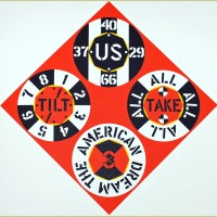 Robert Indiana Red Diamond American Dream #3