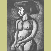 Georges Rouault Fille au Grand Chapeau (Girl in a Large Hat)