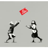 Banksy No Ball Games (Grey)