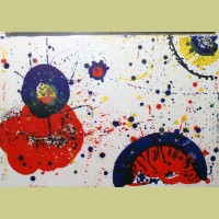 Sam Francis Cloud Rock and Kayo 4 Years Old -- Red Eye