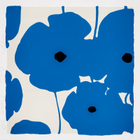 Donald Sultan Blue Poppies