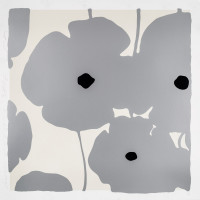 Donald Sultan Silver Poppies