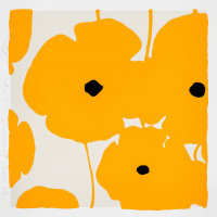 Donald Sultan Yellow Poppies