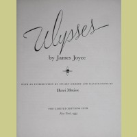 Henri Matisse Ulysses Title Page And Introduction