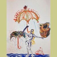 Salvador Dali Anti-Umbrella with Atomized Liquid