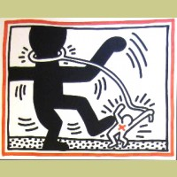 Keith Haring Untitled (Free South Africa #2)