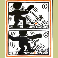 Keith Haring Untitled (Free South Africa #3)