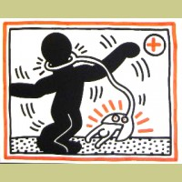 Keith Haring Untitled (Free South Africa #1)
