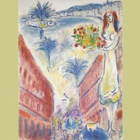 Charles Sorlier after Marc Chagall Avenue De La Victoire at Nice