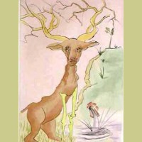 Salvador Dali Le Cerf se Voyant dans L'eau (The Dear Seeing Himself in the Water)