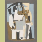 Pablo Picasso (after) Pierrot and Harlequin