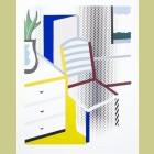 Roy Lichtenstein Interior with Chair