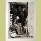 La Vielle aux Logues Original James McNeill Whistler Etching 1858 La Vielle aux Logues