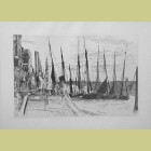 Billingsgate Original James McNeill Whistler Etching 1859 Billingsgate