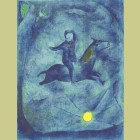 Marc Chagall Mounting the ebony horse..., from Arabian Nights
