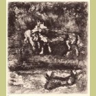 Marc Chagall The Wolf and the Lamb, from Les Fables de la Fontaine, Volume I