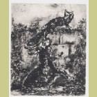 Marc Chagall The Fox and the Goat, from Les Fables de la Fontaine, Volume I
