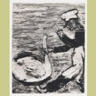 Marc Chagall The Swan and the Cook, from Les Fables de la Fontaine, Volume I