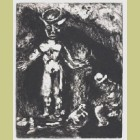 Marc Chagall The Man and the Idol of Drill, from Les Fables de la Fontaine, Volume I