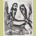 Marc Chagall The Eagle and the Owl, from Les Fables de la Fontaine, Volume II