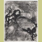 Marc Chagall The Lion and the Hunters, from Les Fables de la Fontaine, Volume II
