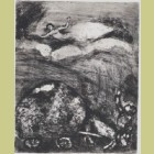 Marc Chagall The Cart Gets Stuck in the Mud, from Les Fables de la Fontaine, Volume II