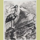 Marc Chagall The Heron, from Les Fables de la Fontaine, Volume II