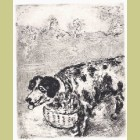 Marc Chagall The Dog Who Carried on His Neck the Dinner of His Master, from Les Fables de la Fontaine, Volume II
