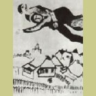 Marc Chagall Lovers Above the City