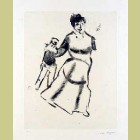 Marc Chagall Mother and Daughter, from Mein Leiben