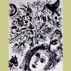 Marc Chagall Couple Beside Tree