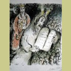 Marc Chagall Lithograph Moses and Aaron